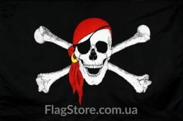 Купити піратський прапор в червоній бандані