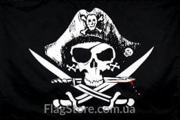 Пиратский флаг в треуголке