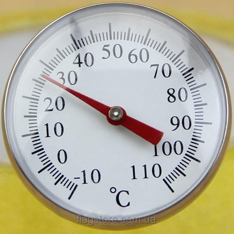 Механический термометр для жидкостей №1 с клипсой (шкала от -10 до 110 °C) 4