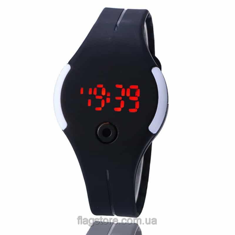 Силиконовые часы с круглым циферблатом 02