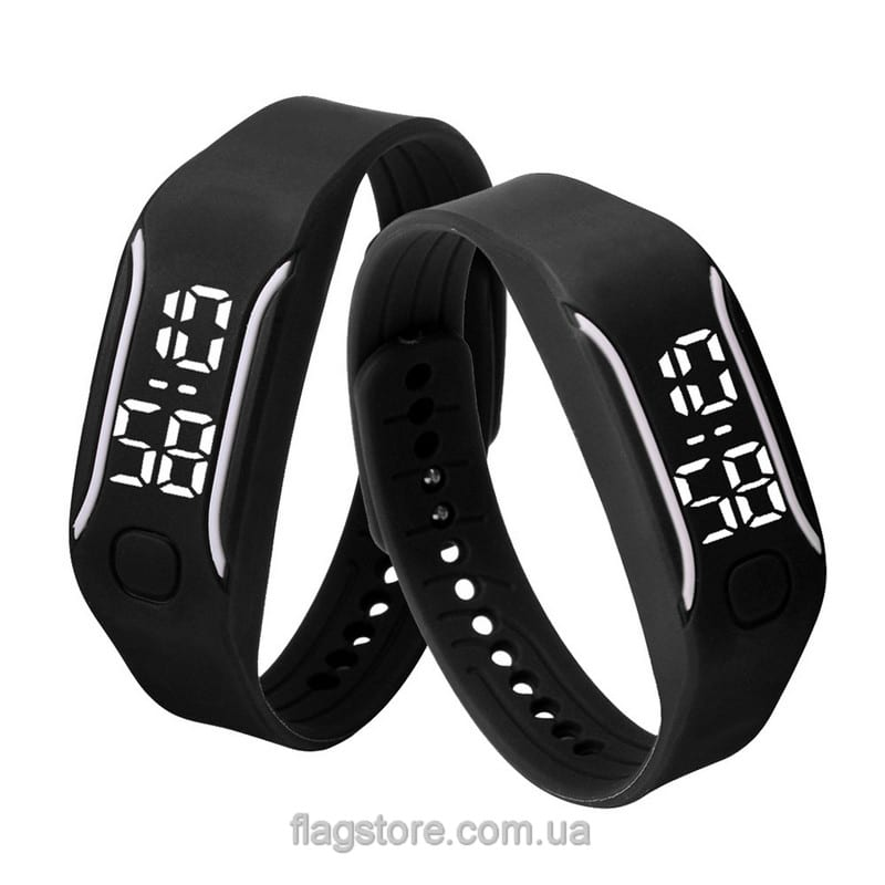 Часы-браслет с белыи LED и вертикальными полосками (разные цвета) 03