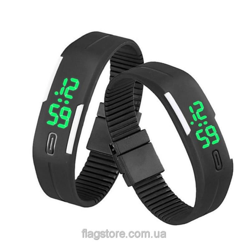 Часы-браслет с зеленым LED (разные цвета) 03