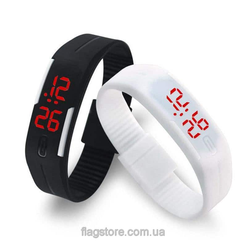 Часы-браслет с красным LED 101