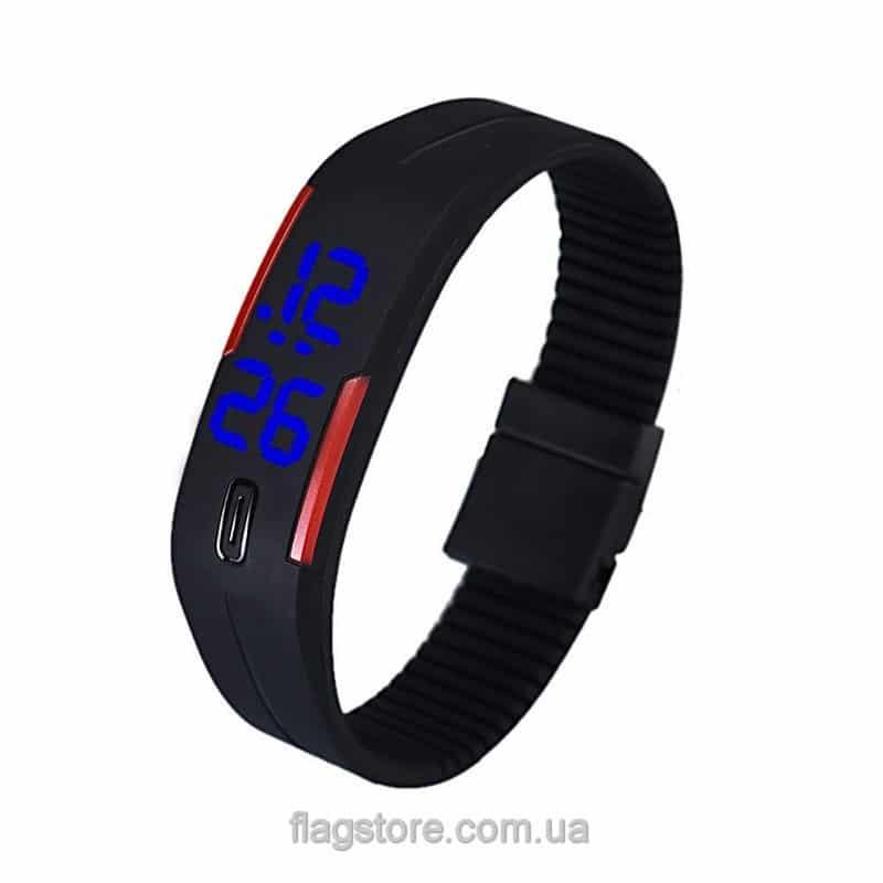 Часы-браслет с синимLED (разные цвета) 05