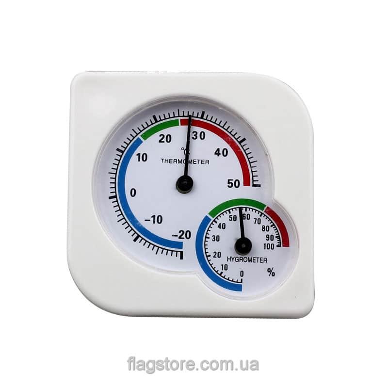 Аналоговый термометр-гигрометр (квадратный) 2