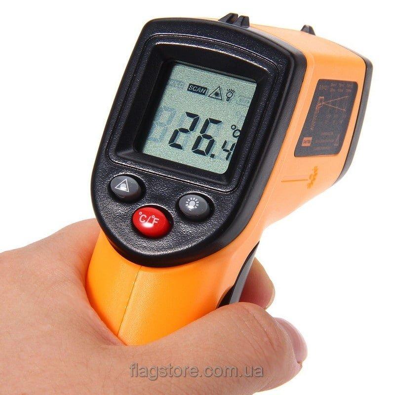 Бесконтактный инфракрасный термометр-пистолет (от -50 до 380 °C) 3