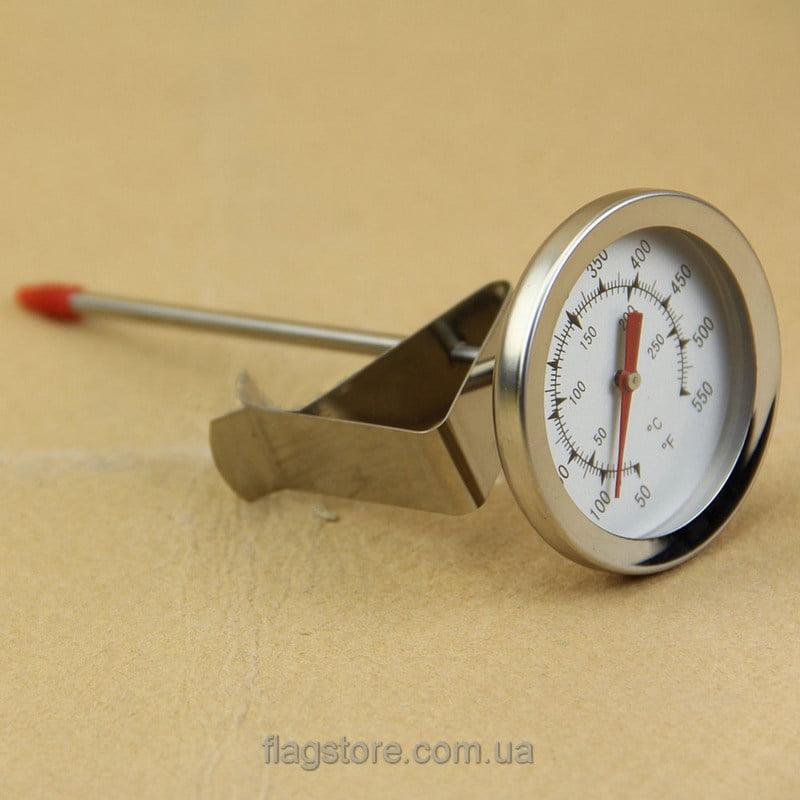 Механический термометр для жидкостей № 6 с клипсой (шкала по Цельсию от 0 до 300 °C и Фаренгейту) 1