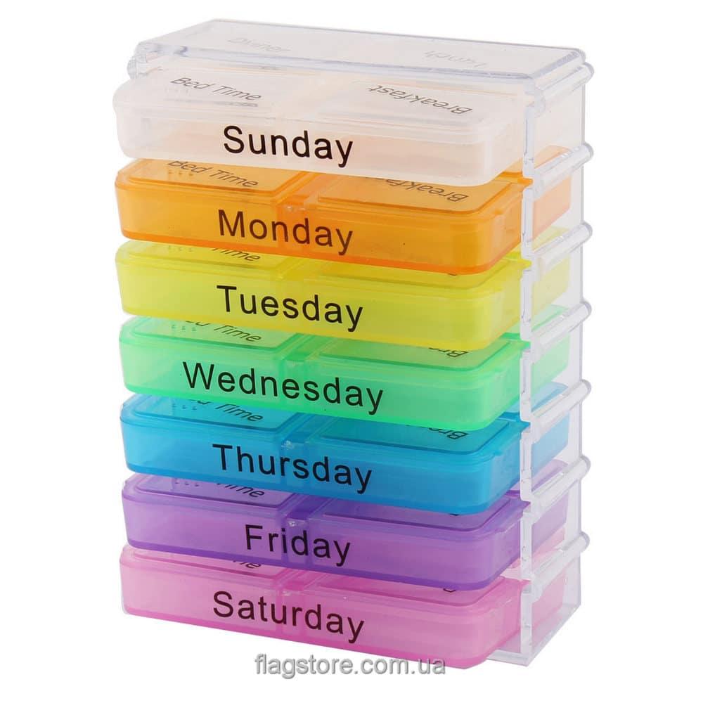 Мобильный контейнер для таблеток на 7 дней – 4 приема в день 3