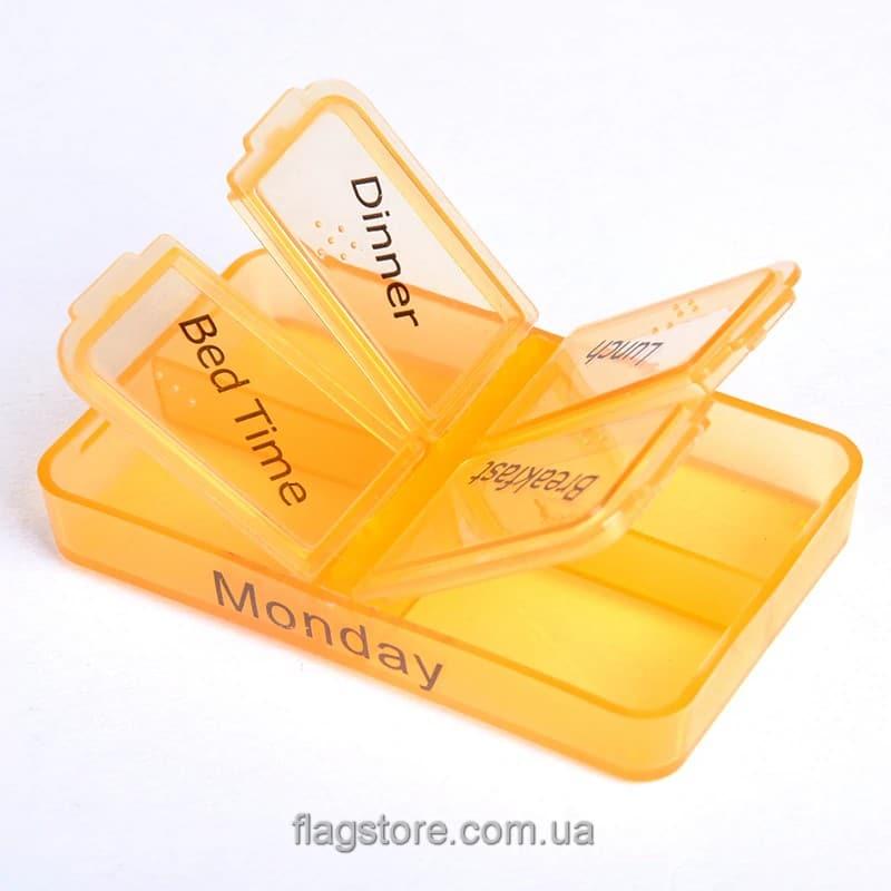 Мобильный контейнер для таблеток на 7 дней – 4 приема в день 6