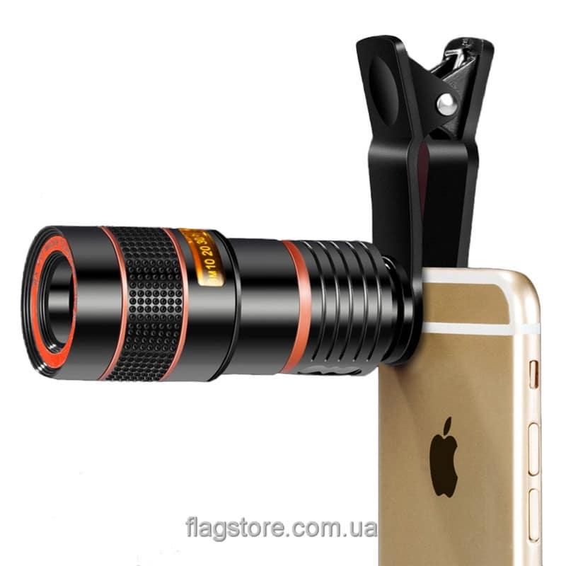 Универсальный объектив-зум 8х для смартфонов 4
