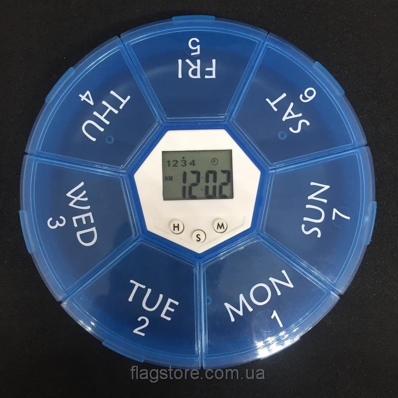 Электронный органайзер для таблеток с сигналом-напоминанием (7 отсеков) 04
