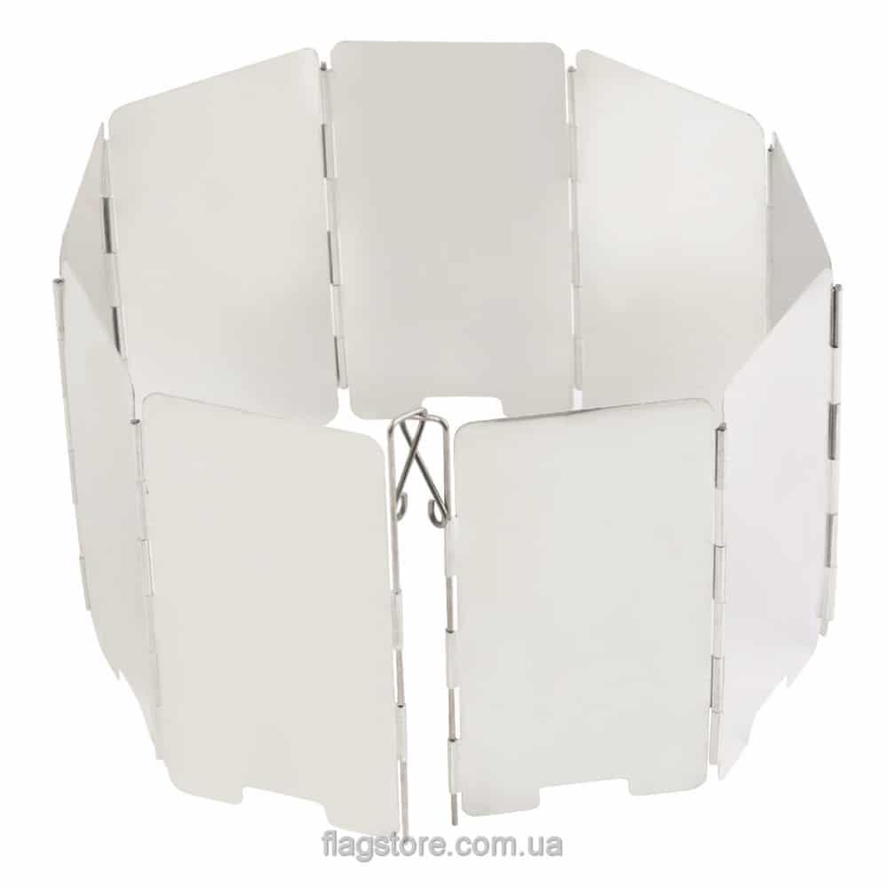 Алюминиевый ветроотражатель для горелки (9 секций) 2