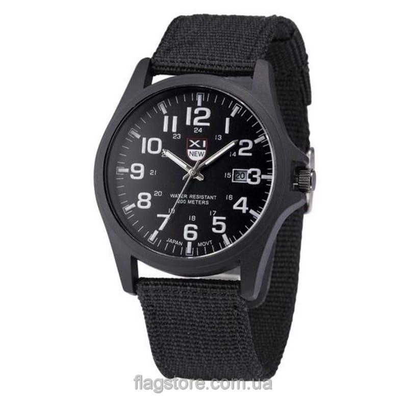 Аналоговые наручные часы с тканевым ремешком (W164) 02