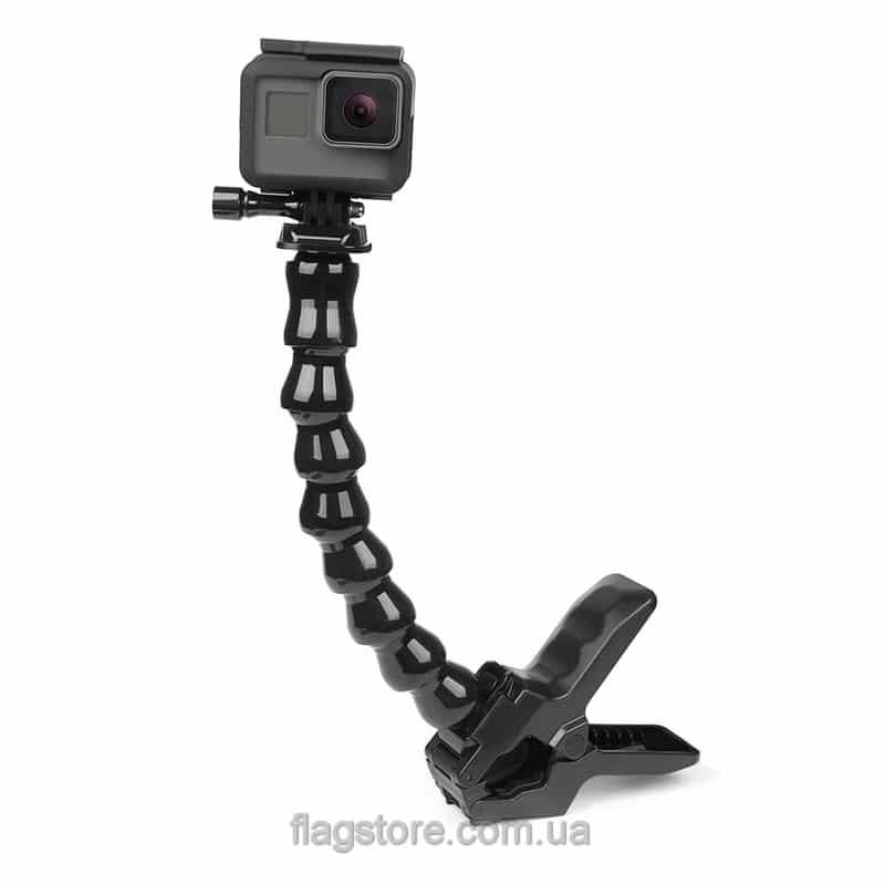 Гибкий монопод-прищепка для экшн-камер 25 см 5