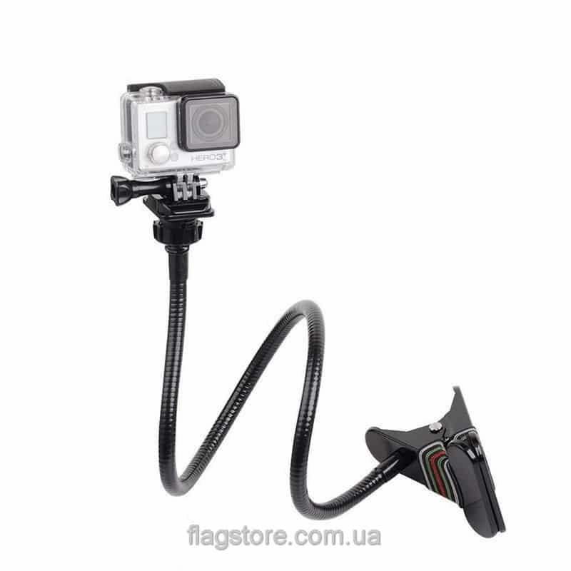 Гибкий монопод-прищепка для экшн-камер 72 см 3