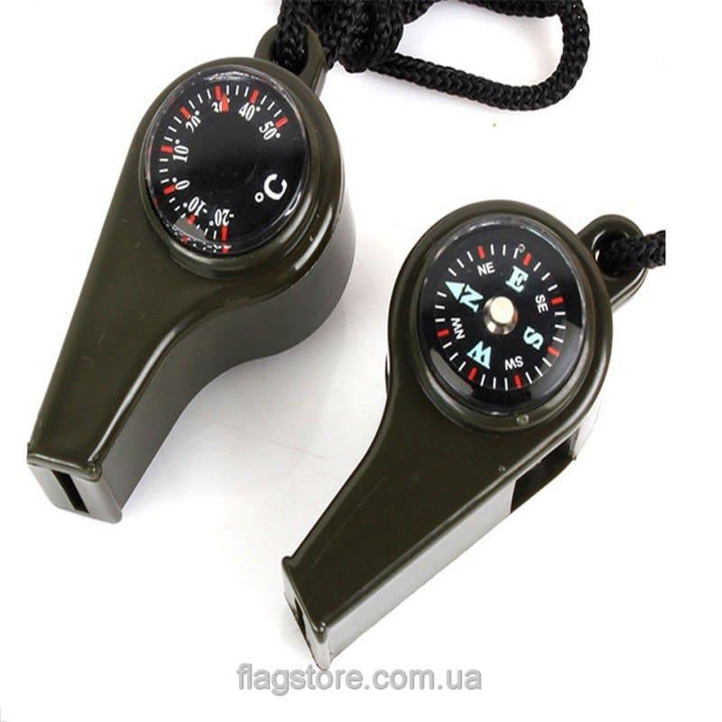 Свисток с компасом и термометром 1