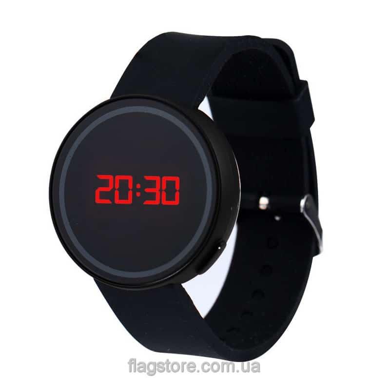 Сенсорные часы с красным LED 03