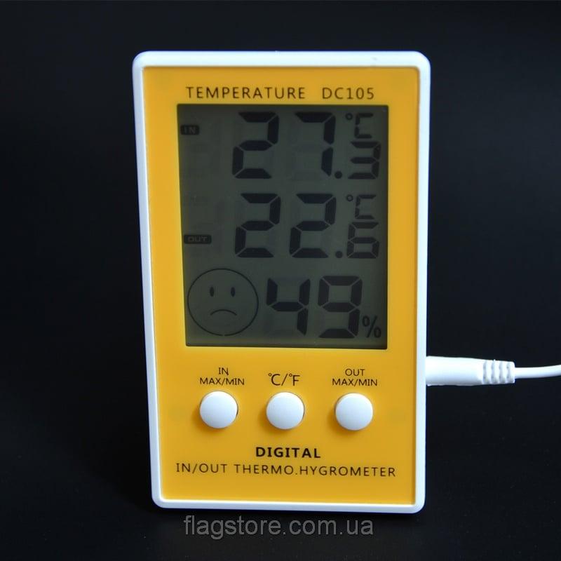 Термометр-влагомер для дома DC105 с выносным датчиком 2