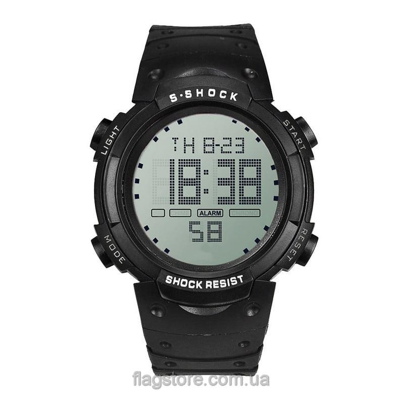 Cпортивные водонепроницаемые часы S-Shock с подсветкой (W155) 02