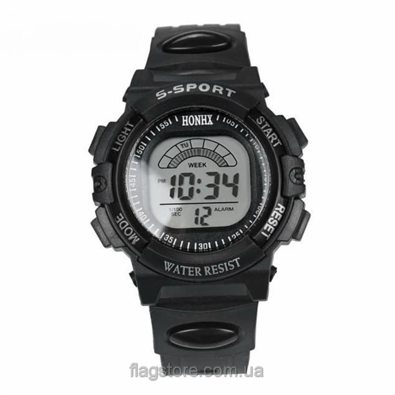 Cпортивные водонепроницаемые часы S-Sport с подсветкой (W155) 01