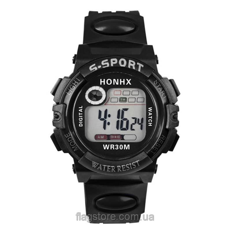 Cпортивные водонепроницаемые часы S-Sport с подсветкой (W158) 01