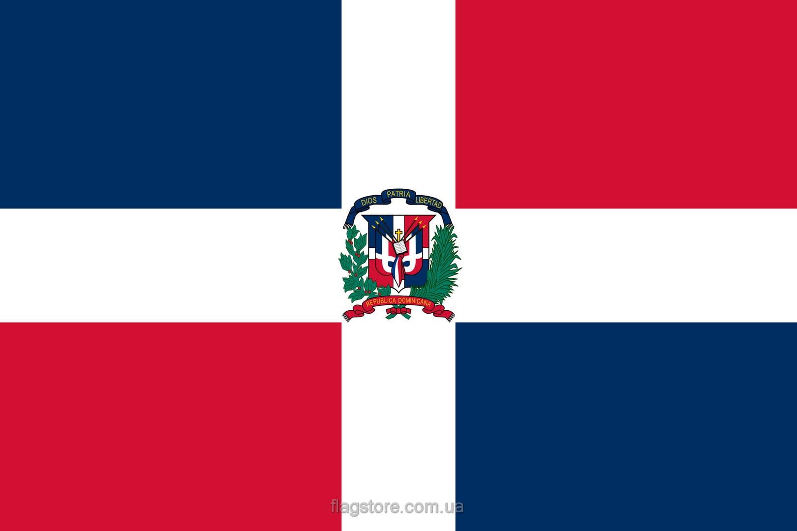 Купить флаг Доминиканской республики (страны Доминиканская республика)