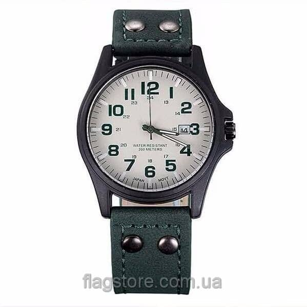 Fналоговые наручные часы с кожанным ремешком (W163) 01