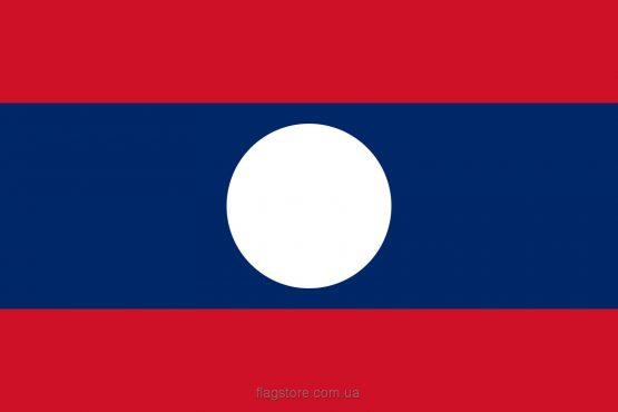 купити прапор Лаосу (країни Лаос)