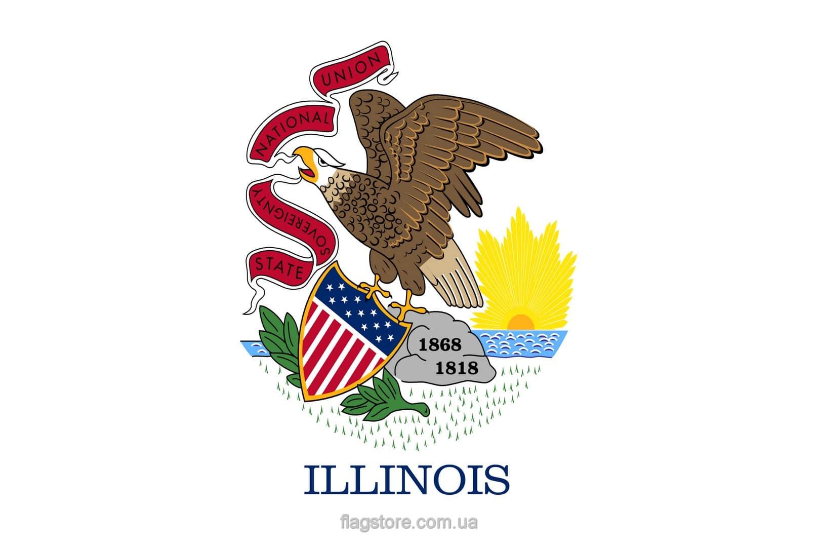 Купить флаг Иллинойса (штата Иллинойс)