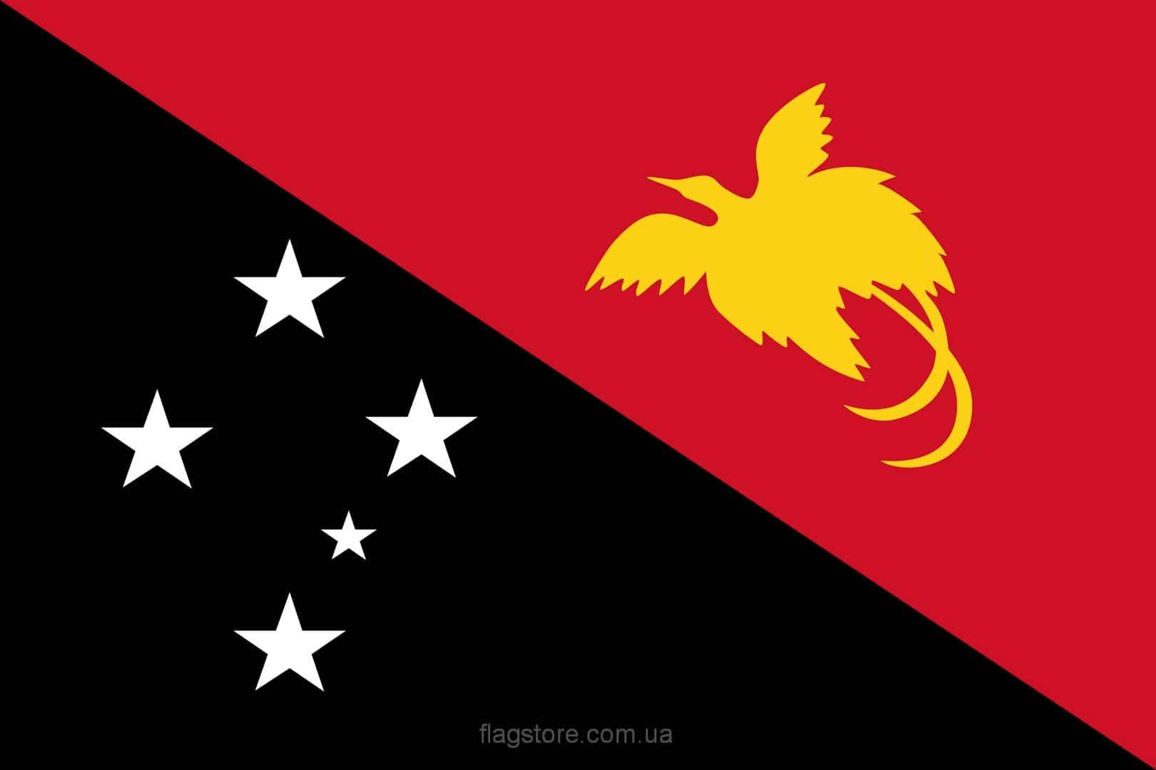 Купить флаг Папуа — Новой Гвинеи (страны Папуа – Новая Гвинея)