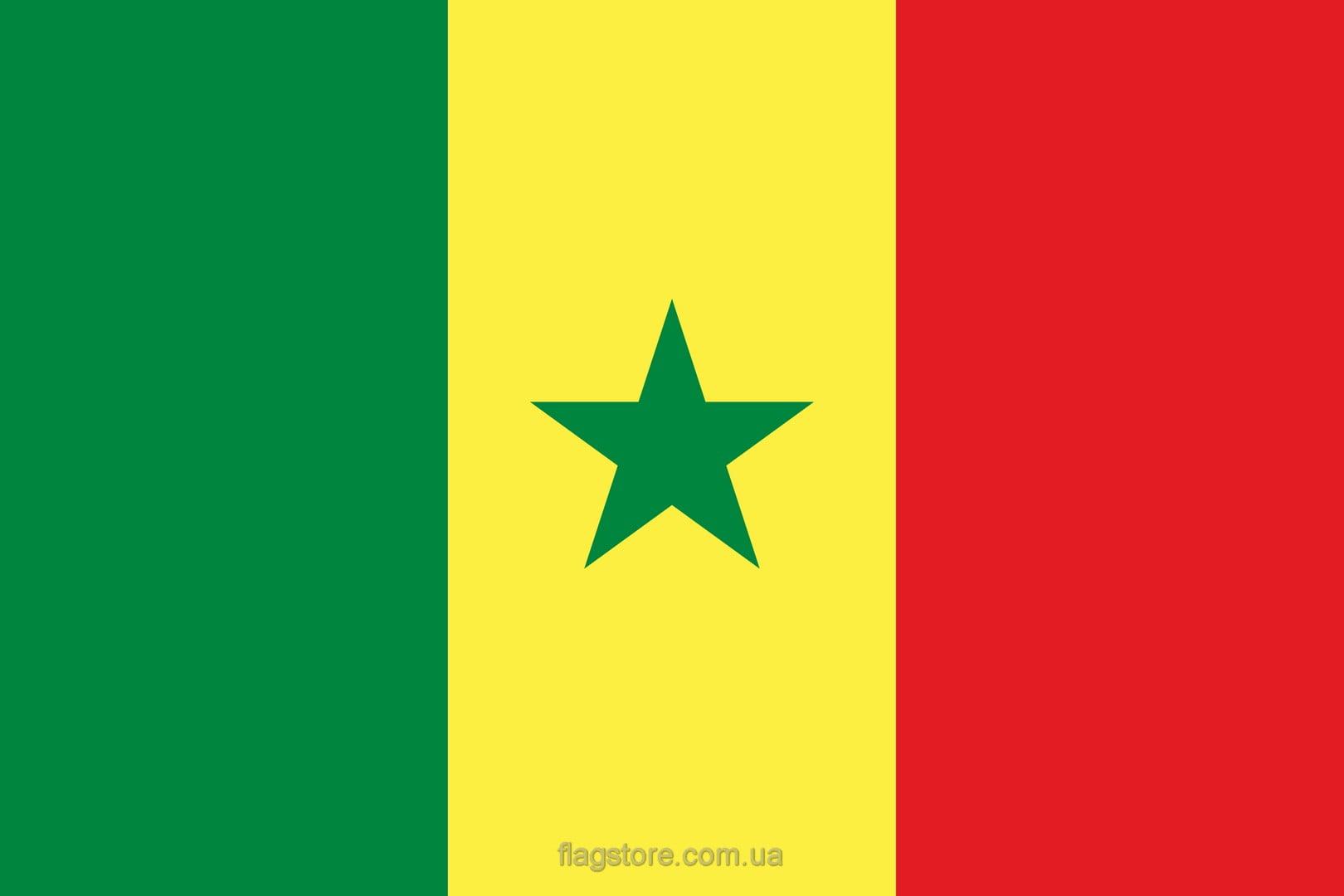Купить флаг Сенегала (страны Сенегал)