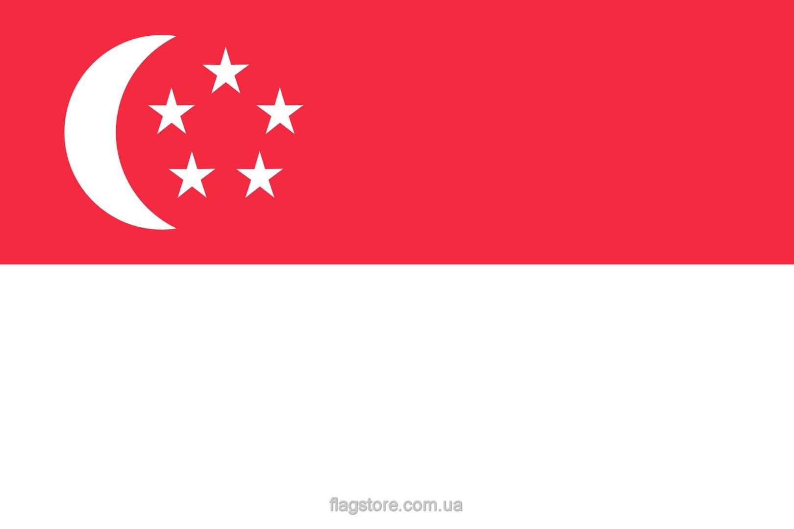 Купить флаг Сингапура (страны Сингапур)