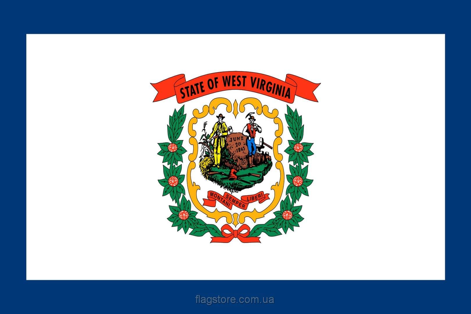 Купить флаг Западной Виргинии (штата Западная Виргиния)