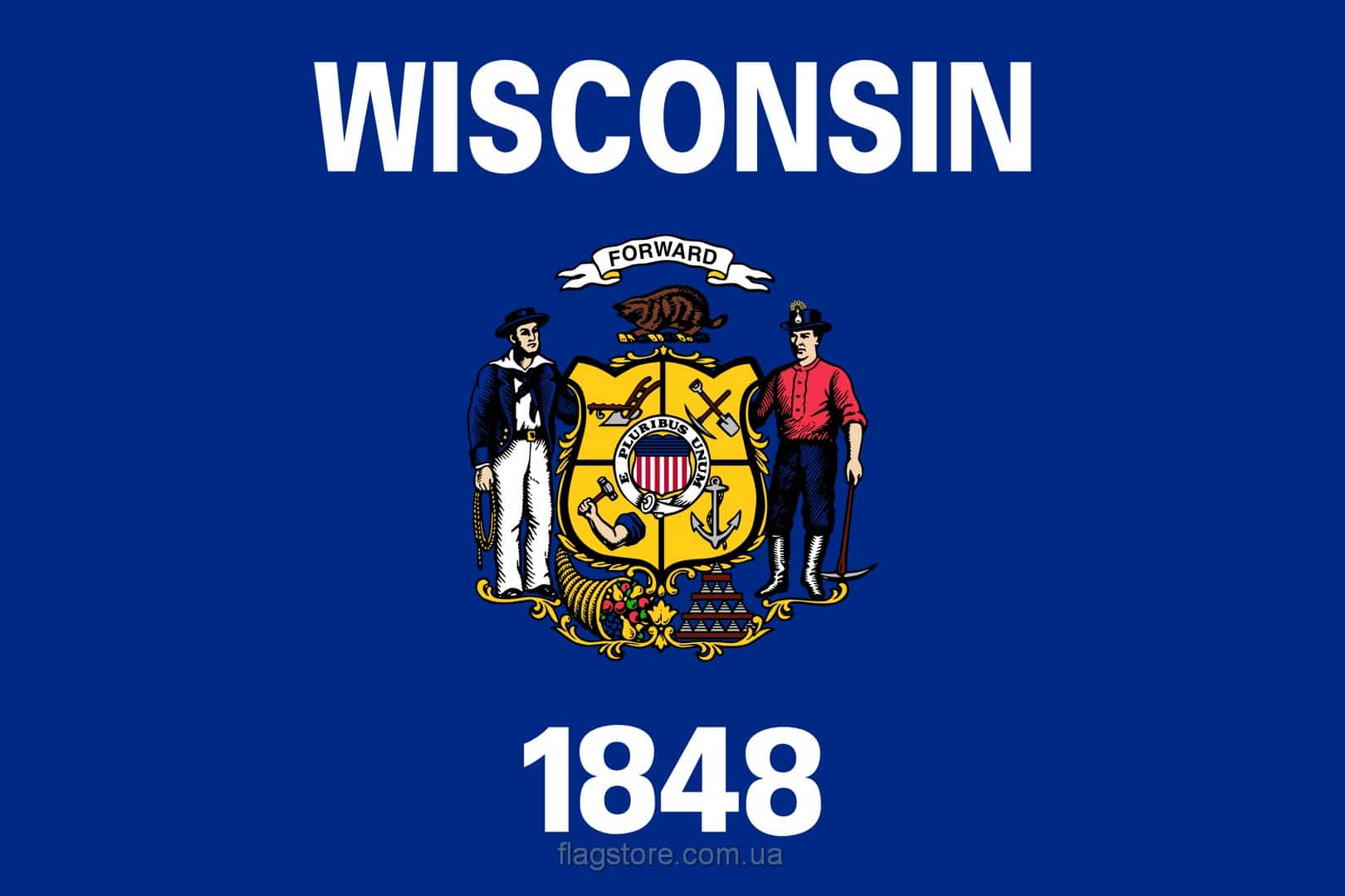 Купить флаг Висконсина (штата Висконсин)