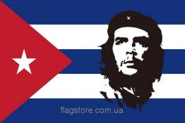 Купити прапор Че Гевара на тлі прапора Куби