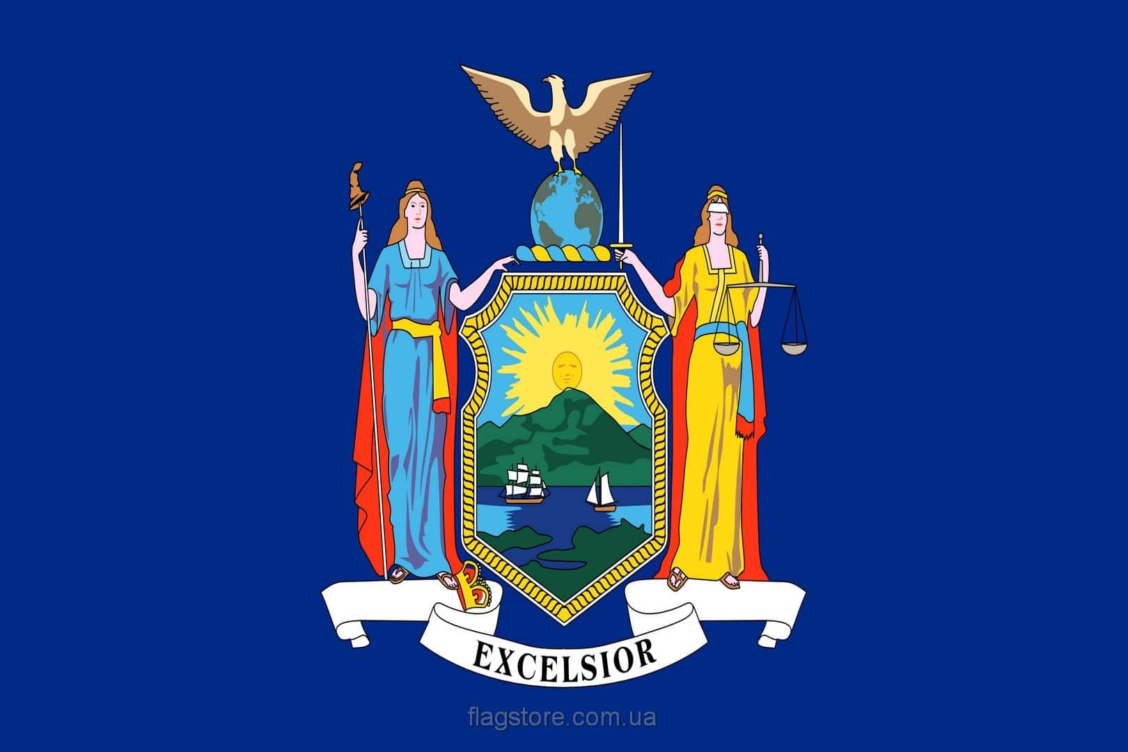 Купить флаг Нью-Йорка (штата Нью-Йорк)