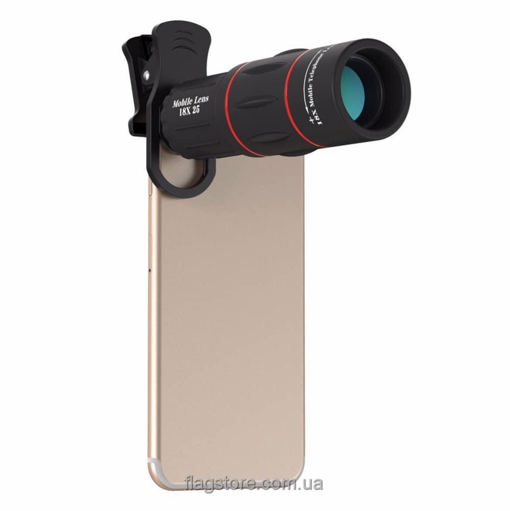 Универсальный объектив на телефон 18х 1