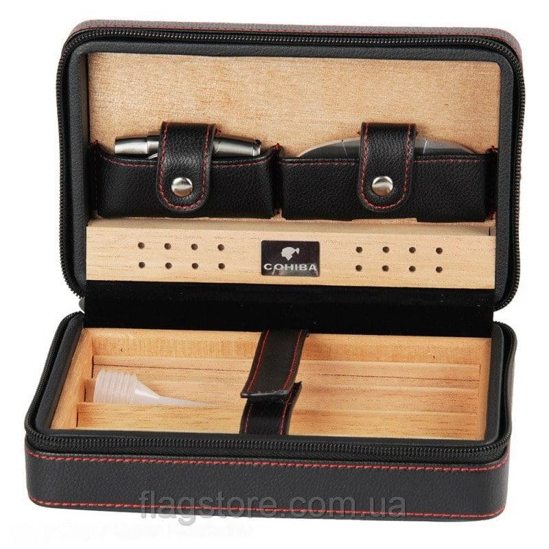 Мобильный кожаный хьюмидор Cohiba на 4 сигары 8