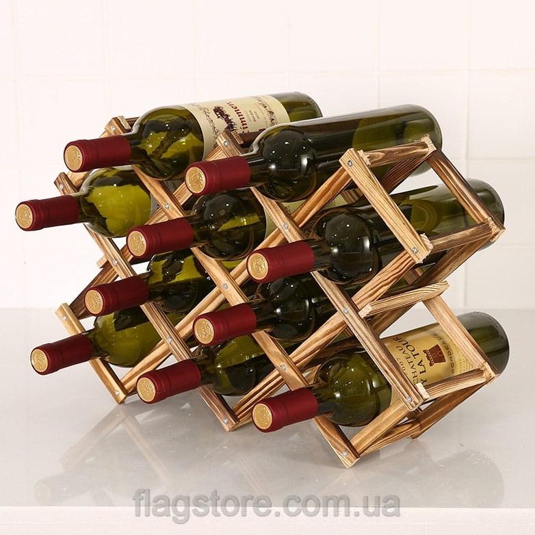 Подставка для 10 бутылок вина 5