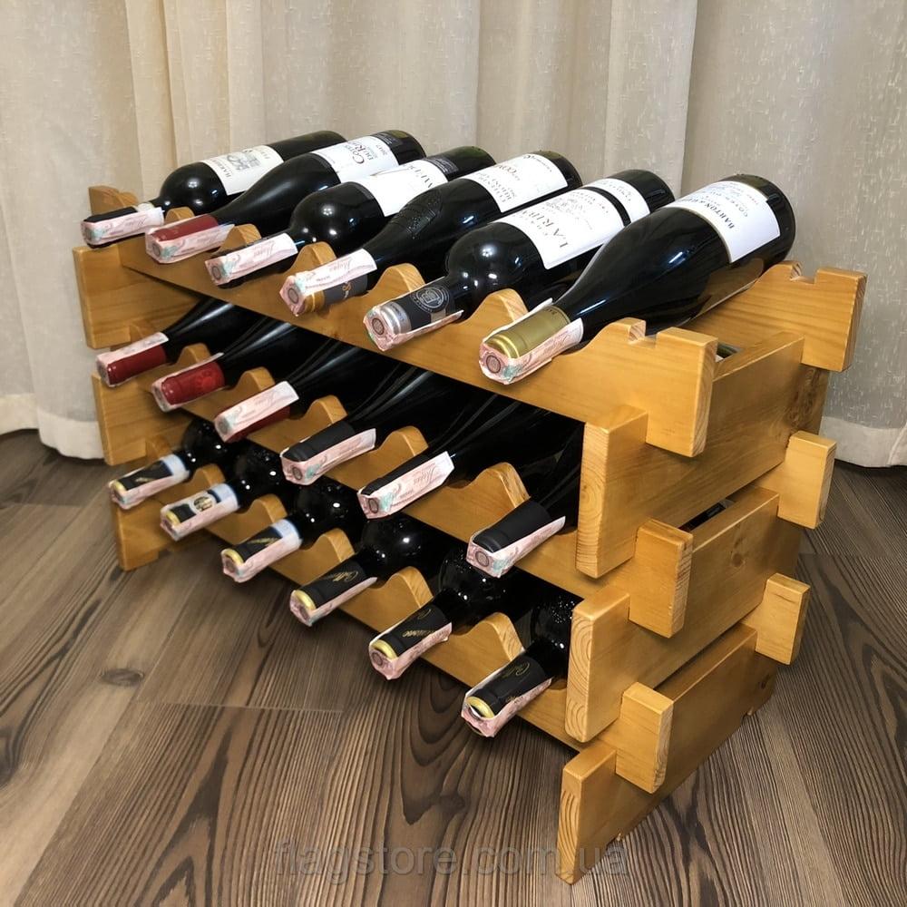 Винная полка на 18 бутылок 3