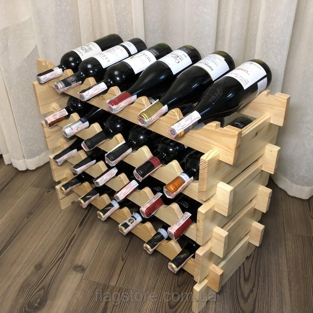 Деревянный стеллаж для 24 бутылок вина 7