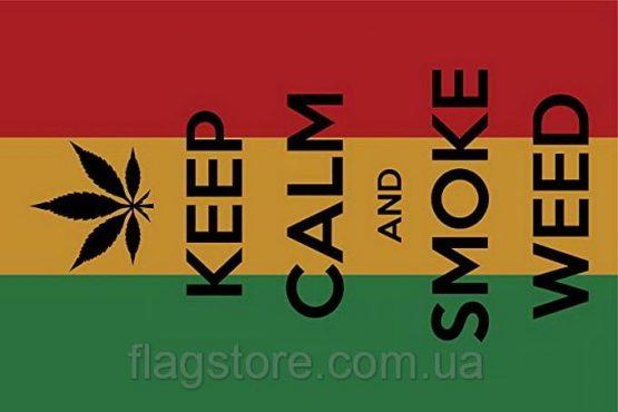 Купити прапор Раста Keep Calm and Smoke Weed