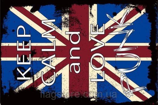 Купити прапор Keep Calm and Love Punk