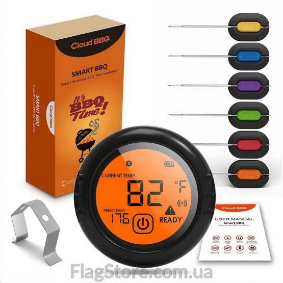 Купить термометр для мяса с 6 выносными щупами
