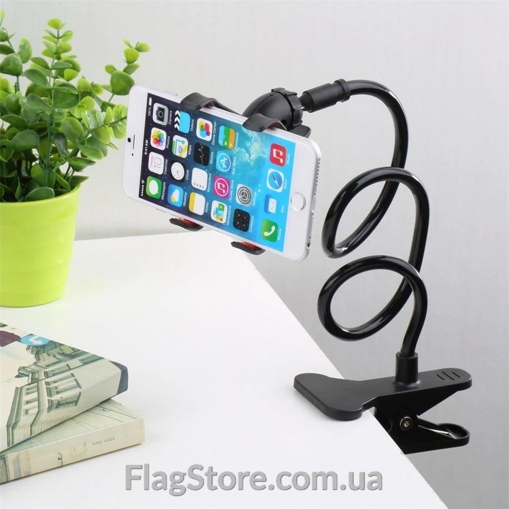 Гибкий держатель-монопод на прищепке для смартфона 9