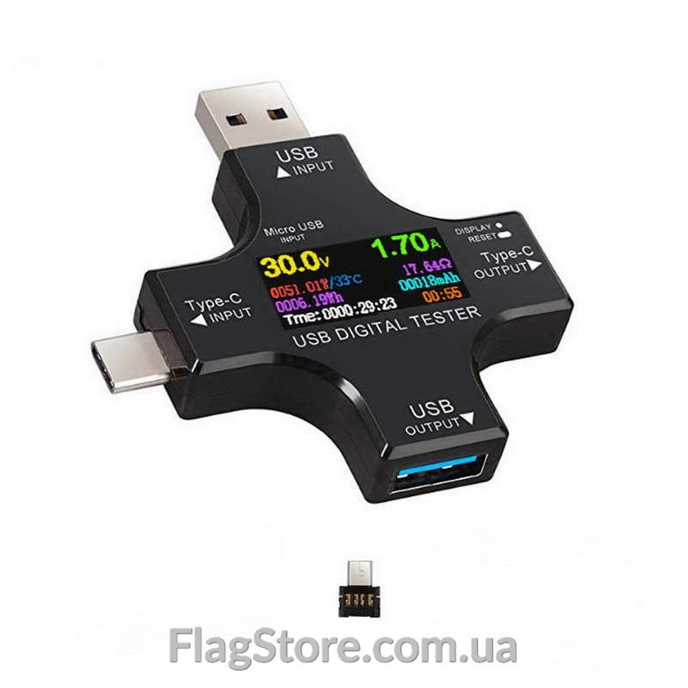 Купить тестер 3в1 USB-A; USB-C; Micro-USB 3