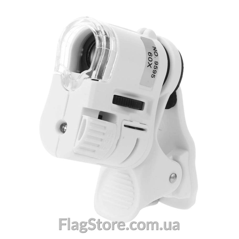 Микроскоп 60х с подсветкой для камеры смартфона 2