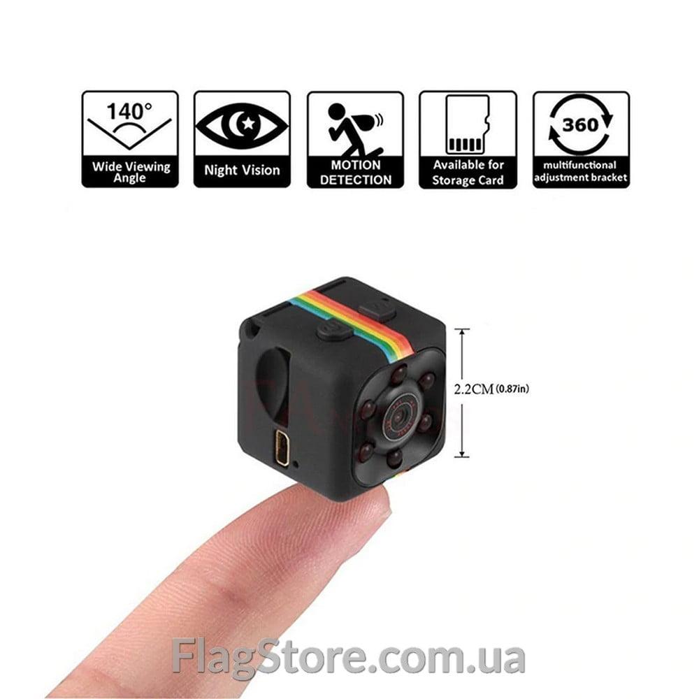 Мини камера Full HD с датчиком движения и ночной съемкой 4