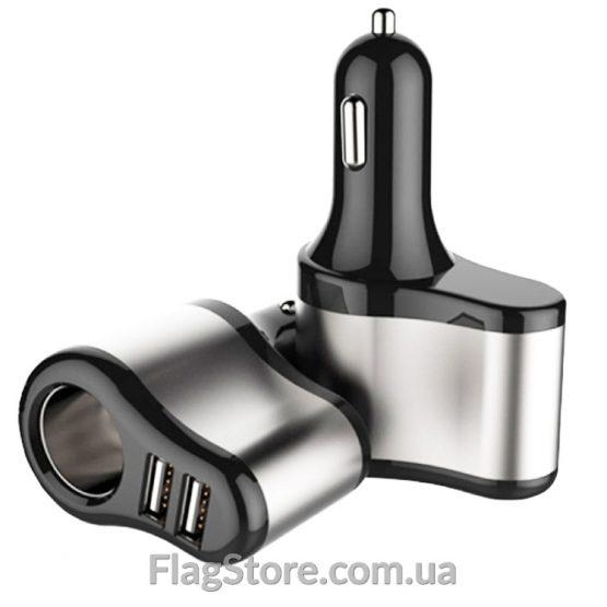 Зарядка на 2 USB+прикуриватель купить