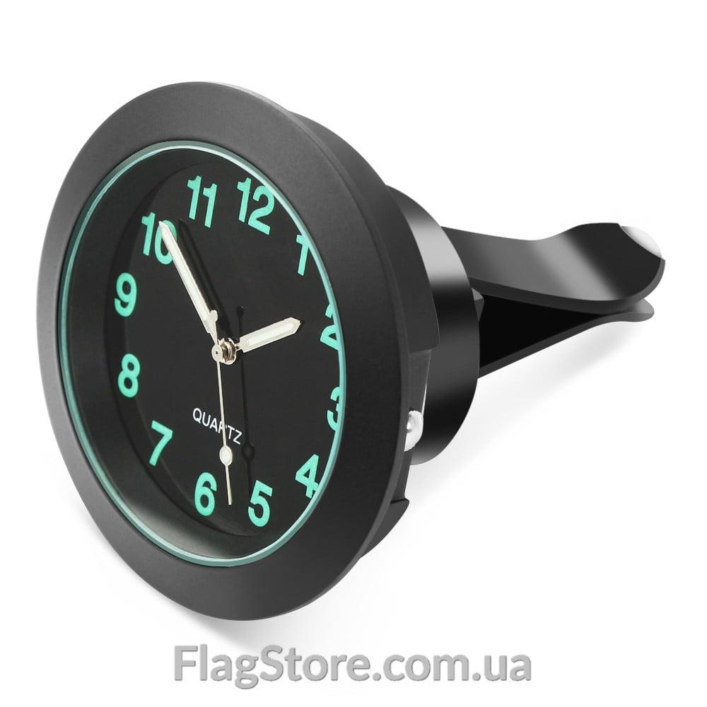 Кварцевые автомобильные люминесцентные часы на клейкой основе с зажимом для вентиляции 1